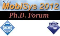 Maria Gorlatova will Co-Chair the ACM MobiSys'12 Ph.D. Forum