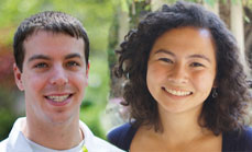 Robert Margolies and Nicole Grimwood received Research Awards
