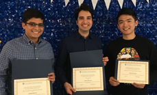 Saleh Soltan, Varun Gupta, Tingjun Chen, and Steven Alfano Receive Awards