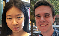 Xinyue (Cindy) Wang and Jackson Welles received departmental awards