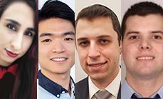 Tingjun Chen, Mahshid Ghasemi, Angel Estigarribia, and Perry Flamer Receive Awards